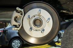 Le circuit de freinage d'un véhicule Photo stock