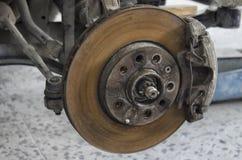 Le circuit de freinage d'une voiture Photographie stock