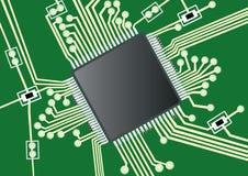 le circuit de panneau a estampé Image stock