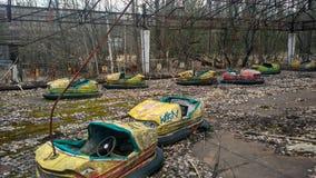 Le circuit des enfants dans Pripyat Images stock