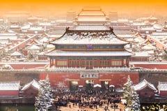 Le Cité interdite en hiver, Pékin Image libre de droits