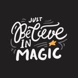 Le citazioni magiche hanno messo per la vostra progettazione Illustrazioni dell'iscrizione della mano illustrazione di stock