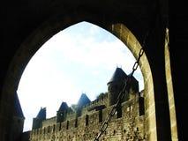 Le Cite de Carcassonne Lizenzfreies Stockbild