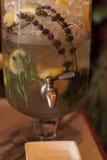 Le citron d'agrume, la chaux et les tranches oranges se sont mélangés avec de l'eau Images libres de droits