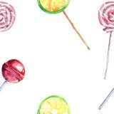 Le citron frais de dessert de bel été délicieux savoureux délicieux merveilleux coloré lumineux a tordu des sucreries de caramel  Image libre de droits