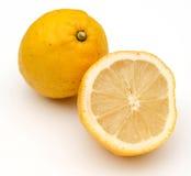 Le citron porte des fruits composition Photos stock