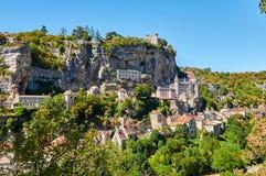Le Citte antique de Rocamadour images libres de droits