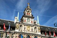 Le Cityhall d'Antwerpen Photographie stock libre de droits