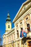Le cityhall de Gyula Photo stock