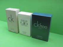 Le CK e Armani eau de toilette Fotografia Stock Libera da Diritti