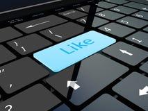 Le clavier aiment la clé Image stock