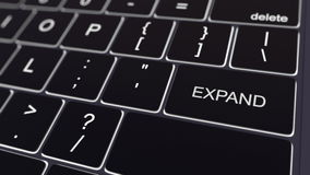 Le clavier d'ordinateur noir et rougeoyer augmentent la clé Rendu 3d conceptuel Images stock
