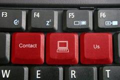 Le clavier, nous contactent photos stock