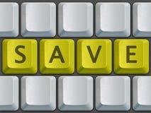 Le clavier sauvegardent Images libres de droits