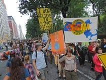 Le climat mars New York City 2014 des personnes Photo libre de droits