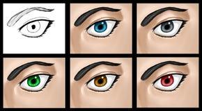 Le clipart (images graphiques) d'oeil a placé 01 illustration libre de droits