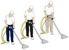 Le clipart (images graphiques) de technologie de nettoyage de tapis a placé 4 illustration stock