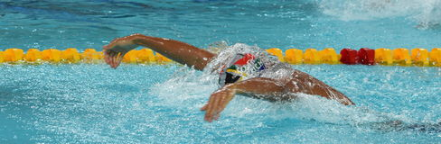 LE CLOS Chad RSA. Hong Kong, China - Oct 29, 2016. Olympic and world champion swimmer LE CLOS Chad RSA swimming in the Men`s Butterfly 100m Preliminary Heat Stock Photo