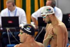 LE CLOS Chad RSA and SCHOEMAN Roland RSA Royalty Free Stock Photography