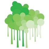 Le CloudTree génial vert Photographie stock libre de droits