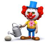 le clown 3d arrose la roche Image stock
