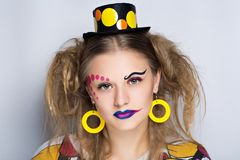 Le clown de femme composent Photo libre de droits