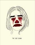 Le clown triste Photographie stock libre de droits