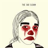 Le clown triste Images libres de droits