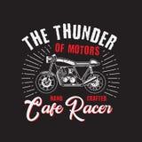 Le club de moto de tonnerre bon pour votre ?v?nement de T-shirt illustration libre de droits