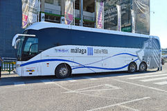 Le club de Team Coach Of Malaga Football Photographie stock libre de droits