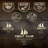 Le club de yacht badges des logos et des labels pour utilisation Photo libre de droits