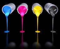 le cmyk 3d colore la réflexion de hdr rendent Images libres de droits