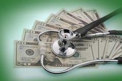 Le coût de soins de santé Images libres de droits