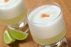 Le cocktail péruvien a appelé Pisco aigre photo libre de droits