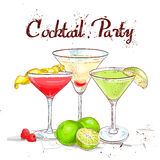 Le cocktail réglé de cocktail d'Unforgettables Image stock