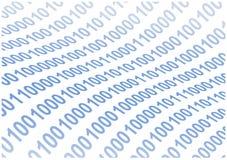 Le code binaire abstrait ondule le fond illustration de vecteur