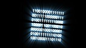 Le code binaire se composant de cube résultant en matrice clips vidéos