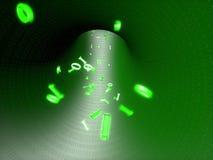 Le code binaire vole dans le canal illustration libre de droits