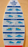 Le code de surfers Images libres de droits