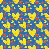 Le coeur abstrait jaune et rouge, fond de vecteur Conception de vecteur Photos stock
