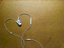 Le coeur aiment la musique Images libres de droits