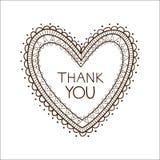Le coeur avec vous remercient de textoter Photos stock
