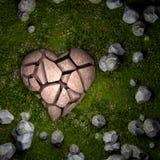 Le coeur brisé au sol illustration stock
