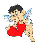 Le coeur brisé de cupidon de Saint-Valentin Photographie stock libre de droits