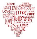 Le coeur d'amour Illustration de Vecteur