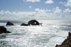 Le coeur dans la roche dans les terres finissent, San Francisco Photos stock