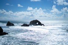 Le coeur dans la roche dans les terres finissent, San Francisco Image libre de droits