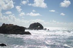 Le coeur dans la roche dans les terres finissent, San Francisco Images stock