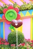 Le coeur de Brown est un symbole de l'amour Image stock