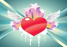 Le coeur de cupidon Illustration de Vecteur